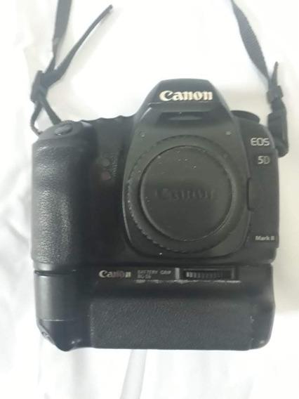 Câmera 5d Mark Ii Tripé Flash 2 Baterias 2 Cartões Cf Cinto
