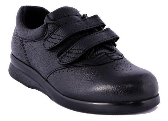Zapato De Diabetico Artritis Dama Big Apple De Piel