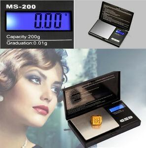 Portatil 200g X 0.01g Mini Escala Digital Joyeria Bolsillo B