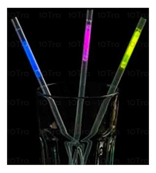 54 Sorbetes Quimicos Luz Neon Bombilla Pajita Luminoso Deco