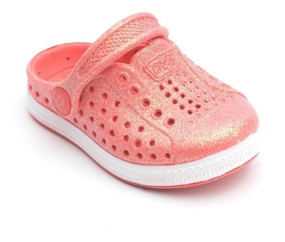 Babuche Plugt Joy Pop Gliter Infantil - Coral