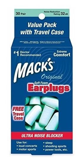 Protetor Auricular Macks - Original Soft Foam - 30 Pares