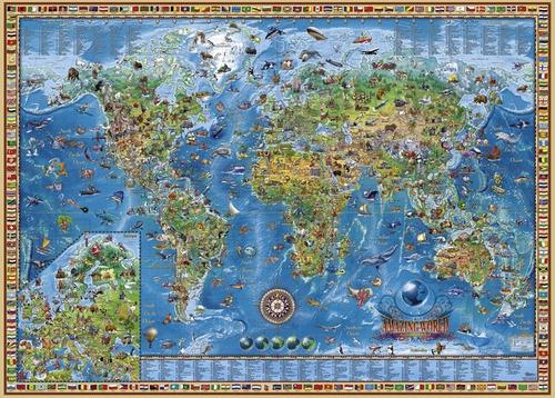 Rompecabezas Heye 2000 Piezas Mapa Amazing World 29846