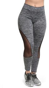 Calças Legging Fitness Roupas Atacado Detalhe Tule 9386