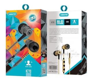 Fone De Ouvido Lacrado Plug P2 Kimaster K770