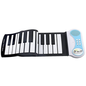 Teclado Musical Digital Silicone Flexível Midi Elêtronico