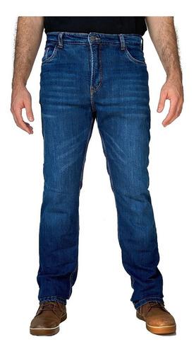 Imagem 1 de 8 de Calça Corse Motorcycle Jeans - Stone Washed/azul - Slim
