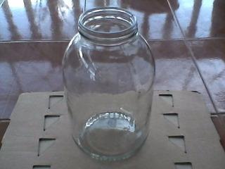 Frasco Botella Envase De Vidrio 4000cc(4litros) Sin Tapas