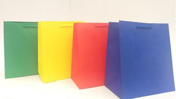 60 Bolsas De Papel Gran Variedad De Colores
