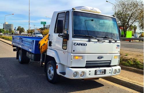 Ford Cargo 915e Con Hidro Grúa Y Caja De Carga