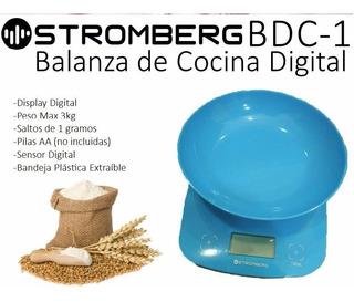 Balanza De Cocina Digital Stromberg Bdc1 Bowl Hasta 3kg