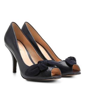 c90b2ee755 Crysalis Sapato Salto Peep Toe Turim Vinho - Calçados