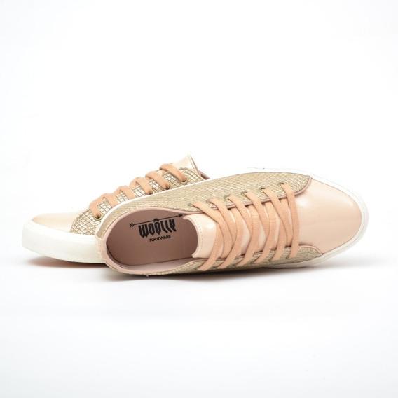 Zapatillas Mujer Moda Cuero Pu Sneakers