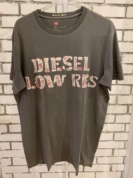 Camiseta Diesel Masculino Chumbo