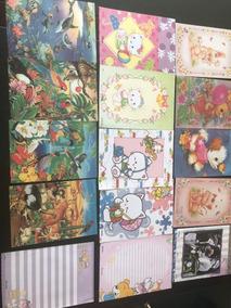 50-papel De Carta-coleção,antigo,colorido,diversos,lindos