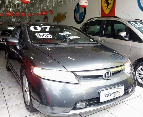Honda New Civic Lxs 1.8 Cinza Completo 2007
