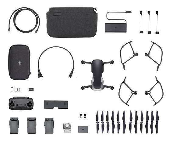 Drone Dji Mavic Air Combo Vuela Mas Color Onyx Black (negro)