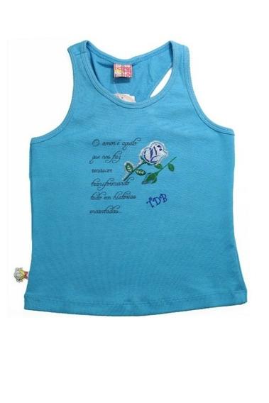 Camiseta Feminina Infantil De Malha