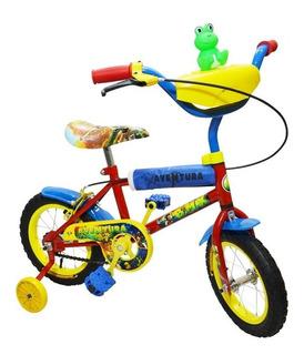 Bicicleta Infantil Rodado 12 Niño Nene Ruedas Con Rayos