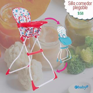 Silla Comedor Para Bebé Plegable / E-baby