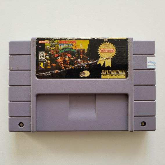 Donkey Kong Country 2 - Original Salvando Snes Cartucho Fita