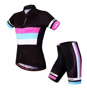Conjunto Ciclismo Feminino Camisa + Bermuda Importado - Bike