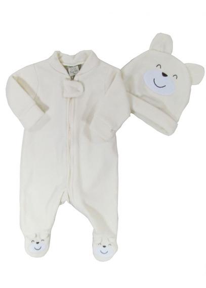 Macacão Bebê Unissex Touca Quente Soft Urso - Pingo Lelê