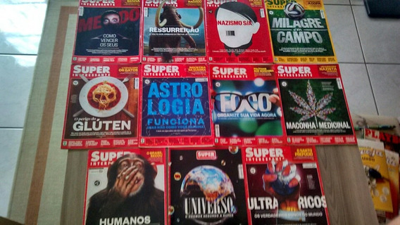 Lote 11 Revistas Super Interessante Ano 2014