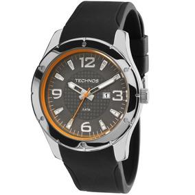 Relógio Masculino Borracha Preto Technos Garantia 2115mlf/8c
