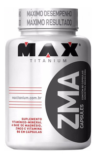 Zma Max Titanium 90 Capsulas - Aumento De Testosterona