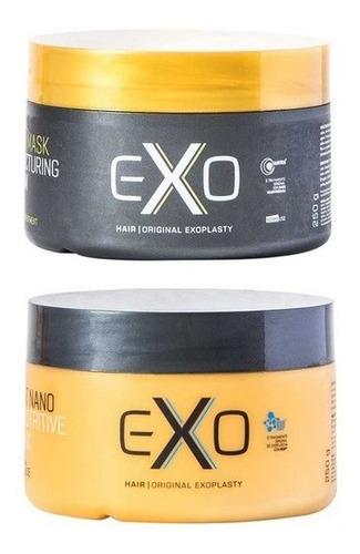 Imagem 1 de 9 de Kit Exo Hair Máscara Reconstrutora E Máscara Nutrição 250g
