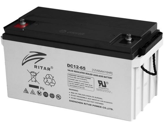 Batería Ciclo Profundo Ritar Agm Gel 12v 65ah Solar Nautica