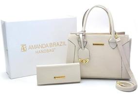 Bolsa Feminina Amanda Brazil C/ Alça 02 Chaveiro!