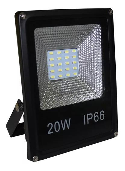 Refletor De Led Holofote 20w Smd Bivolt Branco Frio Ip66