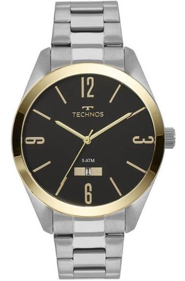 Relogio Technos Cx E Puls Aco Qz Tech 2115mnv/1k