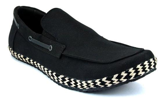 Zapato Mocasin Fresco De Caballero Textil Marinero