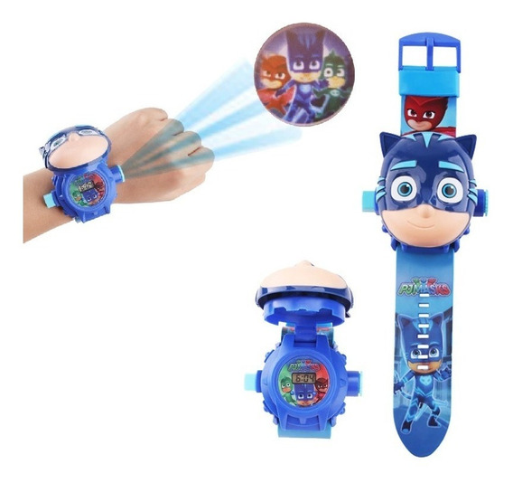 Relógio Infantil Projetor De Luz Com 24 Imagens Digital