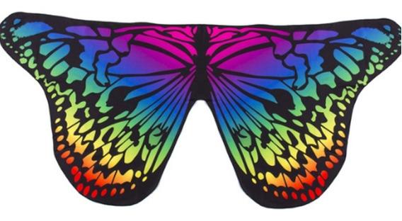 Pareo Disfraz Alas Mariposa Manta Traje De Baño Vestido Play