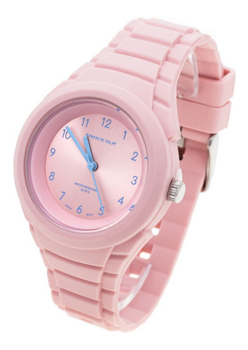 Reloj Knock Out Mujer 8940 Caucho Colores Sumergible
