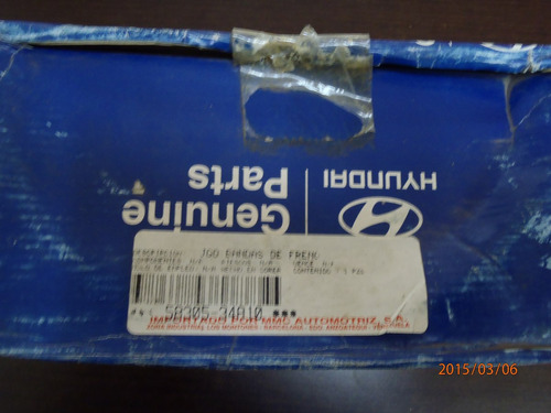 Bandas De Frenos Traseras Hyundai Sonata 3.0 Lts 97-2000
