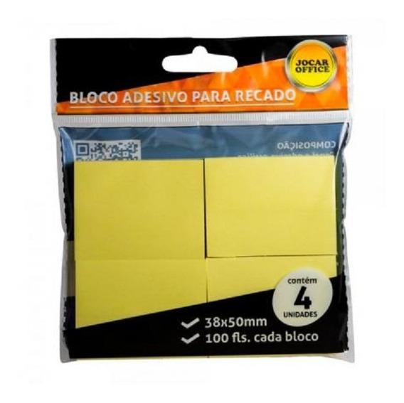 Kit 10 Blocos Recados 38x51 C/ 4 Unid De 100 Fls Amarelo