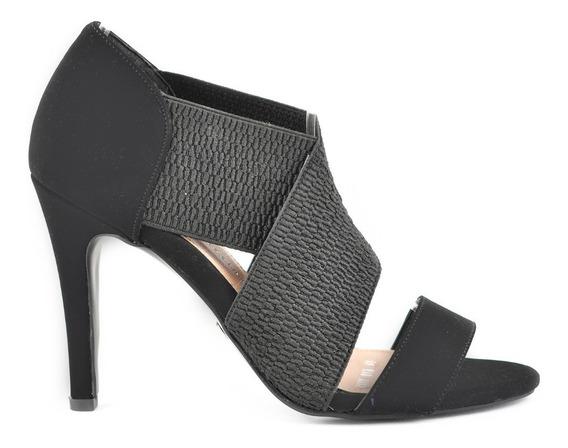 Sandalia Tacón Para Mujer Lob Footwear 690-9975 Negro Nuevo Oi19