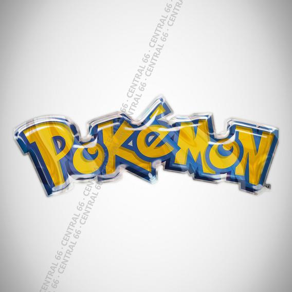 Adesivo Desenho Pokemon Logo Resinado