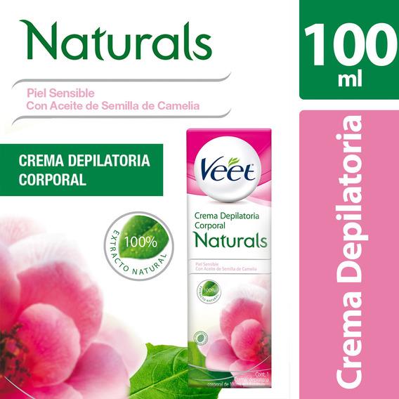 Veet Naturals Depilatorio En Crema Para Piel Sensible, 100ml