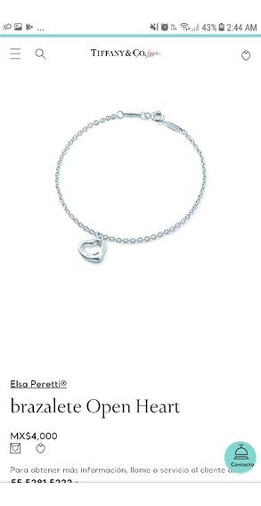Tiffany & Co Brazalete Open Heart Plata Ley .925
