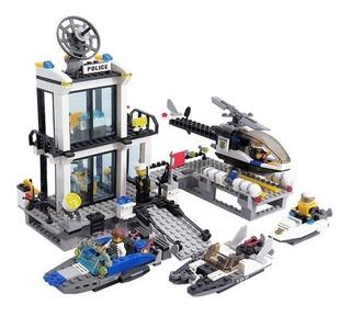 Estación De Policía De Mar Juguete Tipo Lego Kazi +500 Pzas