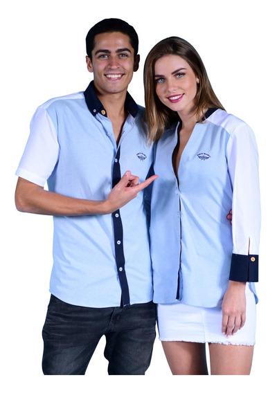 Duo De Camisas Porto Blanco Mujer O Hombre Novios De-907