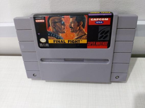 Final Fight Original Snes Super Nintendo Cartucho Fita