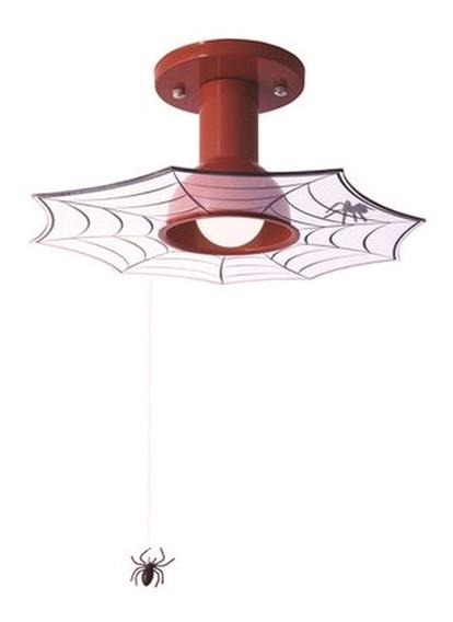 Plafon Homem Aranha Lustre Para Quarto De Menino 1 Lâmpada