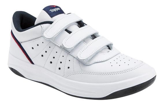 Zapatillas X Forcer Iii Velcro Topper Hombre Cuero Vacuno
